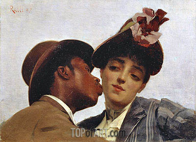 The Kiss, 1887 | Theodore Jacques Ralli | Painting Reproduction