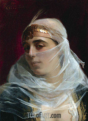 Turkish Woman, undated | Theodore Jacques Ralli | Painting Reproduction