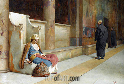 Resting in a Greek Monastery, undated | Theodore Jacques Ralli | Painting Reproduction