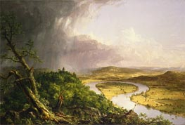 View from Mount Holyoke, Northampton, Massachusetts, after a Thunderstorm - The Oxbow, 1836 by Thomas Cole | Painting Reproduction