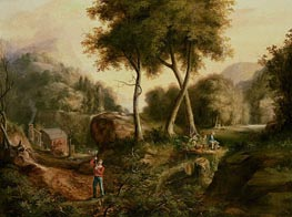 Landscape, 1825 by Thomas Cole | Painting Reproduction