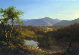View near the Village of Catskill, 1827 by Thomas Cole | Painting Reproduction