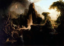 Expulsion from the Garden of Eden, 1828 by Thomas Cole | Painting Reproduction