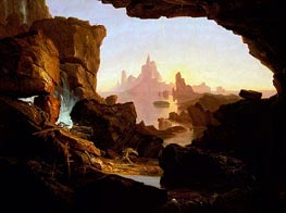 The Subsiding of the Waters of the Deluge, 1829 by Thomas Cole | Painting Reproduction