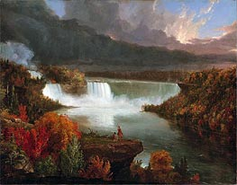 Distant View of Niagara Falls, 1830 by Thomas Cole | Painting Reproduction