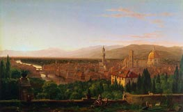 View of Florence, 1837 by Thomas Cole | Painting Reproduction