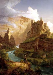The Fountain of Vaucluse, 1841 von Thomas Cole | Gemälde-Reproduktion