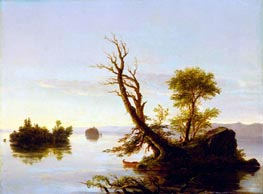 American Lake Scene | Thomas Cole | Gemälde Reproduktion