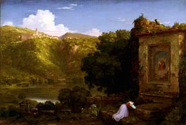 Il Penseroso, 1845 by Thomas Cole | Painting Reproduction