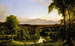 View on the Catskill (Early Autumn Overall), c.1836/37 by Thomas Cole | Painting Reproduction