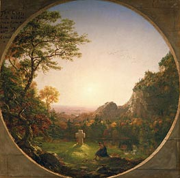 The Lonely Cross | Thomas Cole | Painting Reproduction