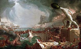 Course of Empire - Destruction, 1836 by Thomas Cole | Painting Reproduction