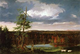 Landscape, the Seat of Mr. Featherstonhaugh in the Distance, 1826 von Thomas Cole | Gemälde-Reproduktion