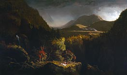 Landscape with Figures (The Last of the Mohicans), 1826 von Thomas Cole | Gemälde-Reproduktion
