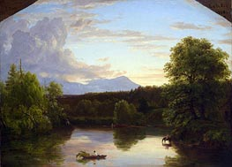North Mountain and Catskill Creek, 1838 von Thomas Cole | Gemälde-Reproduktion