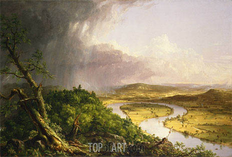 View from Mount Holyoke, Northampton, Massachusetts, after a Thunderstorm - The Oxbow, 1836 | Thomas Cole | Gemälde Reproduktion