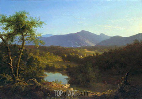 View near the Village of Catskill, 1827 | Thomas Cole | Gemälde Reproduktion