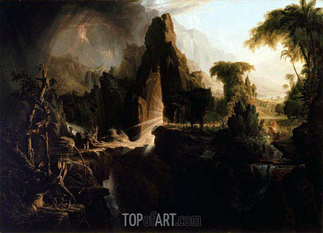 Expulsion from the Garden of Eden, 1828 | Thomas Cole | Gemälde Reproduktion