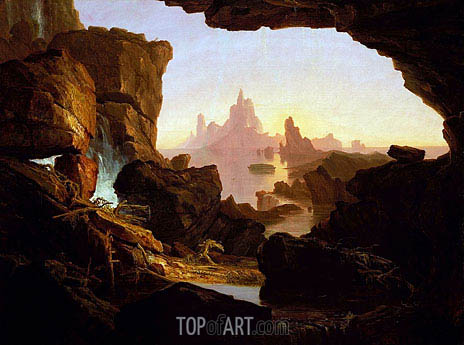 The Subsiding of the Waters of the Deluge, 1829 | Thomas Cole | Gemälde Reproduktion