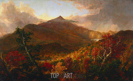 View of Schroon Mountain, Essex County, New York, After a Storm, 1838 | Thomas Cole | Gemälde Reproduktion