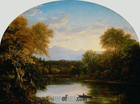 Sunset in the Catskills, 1841 | Thomas Cole | Gemälde Reproduktion