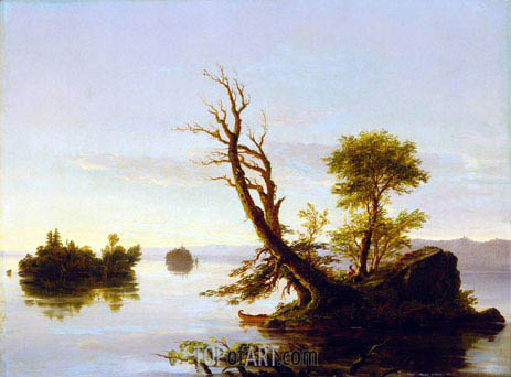 American Lake Scene, 1844 | Thomas Cole | Painting Reproduction