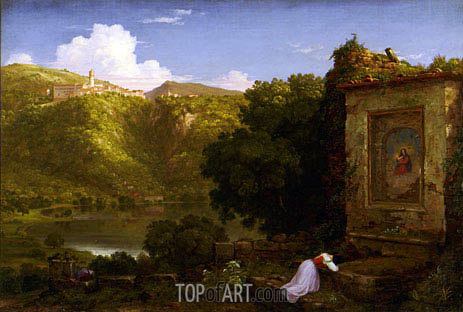 Il Penseroso, 1845 | Thomas Cole | Painting Reproduction