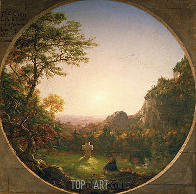 The Lonely Cross, 1845 | Thomas Cole | Painting Reproduction