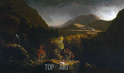 Landscape with Figures (The Last of the Mohicans), 1826 | Thomas Cole | Gemälde Reproduktion