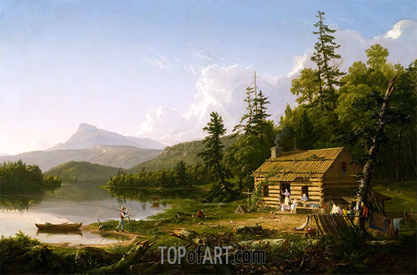 Home in the Woods, 1847 | Thomas Cole | Painting Reproduction