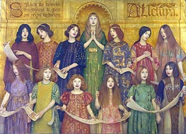 Alleluia | Thomas Gotch | Painting Reproduction