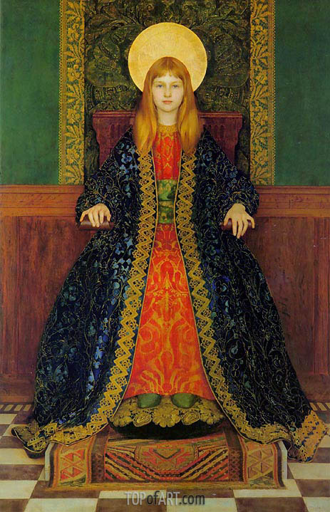 The Child Enthroned, 1894 | Thomas Gotch | Painting Reproduction