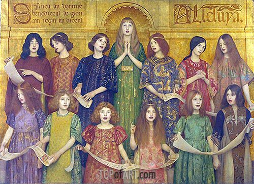 Alleluia, 1896 | Thomas Gotch | Painting Reproduction