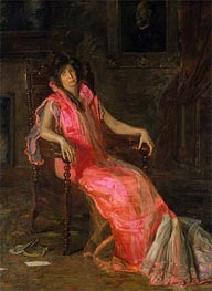 The Actress (Portrait of Suzanne Santje), 1903 von Thomas Eakins | Gemälde-Reproduktion