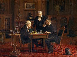 The Chess Players, 1876 von Thomas Eakins | Gemälde-Reproduktion