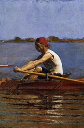 John Biglin in a Single Scull | Thomas Eakins | Painting Reproduction