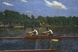 The Biglin Brothers Racing, 1872 von Thomas Eakins | Gemälde-Reproduktion