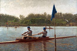 The Biglin Brothers Turning the Stake Boat, 1873 von Thomas Eakins | Gemälde-Reproduktion