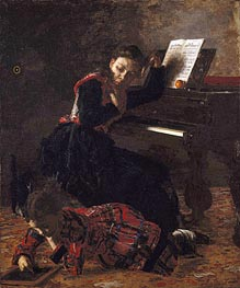 Home Scene, c.1871 by Thomas Eakins | Painting Reproduction