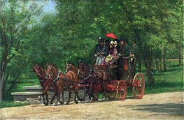 A May Morning in the Park | Thomas Eakins | Painting Reproduction
