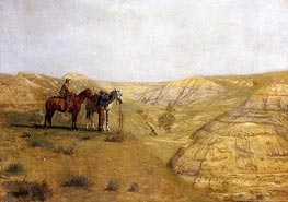 Cowboys in the Badlands, 1888 von Thomas Eakins | Gemälde-Reproduktion