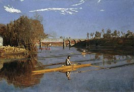 Max Schmitt in a Single Scull, 1871 von Thomas Eakins | Gemälde-Reproduktion