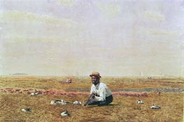 Whistling for Plover, 1874 von Thomas Eakins | Gemälde-Reproduktion