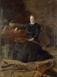 Antiquated Music (Portrait of Sarah Sagehorn Frishmuth), 1900 von Thomas Eakins | Gemälde-Reproduktion