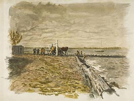 Drawing the Seine, 1882 von Thomas Eakins | Gemälde-Reproduktion