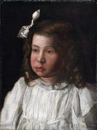 Portrait of a Little Girl, c.1895/00 von Thomas Eakins | Gemälde-Reproduktion