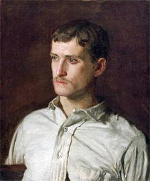 Portrait of Douglass Morgan Hall, c.1889 von Thomas Eakins | Gemälde-Reproduktion