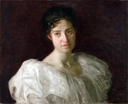 Portrait of Lucy Lewis, 1896 by Thomas Eakins | Painting Reproduction