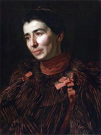 Portrait of Mary Adeline Williams, c.1900 von Thomas Eakins | Gemälde-Reproduktion