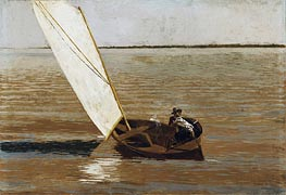 Sailing, c.1875 by Thomas Eakins | Painting Reproduction